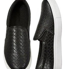 Take Five Woven Sneaker- Black & White