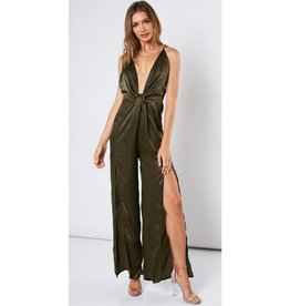 What A Darling Jumpsuit- Olive