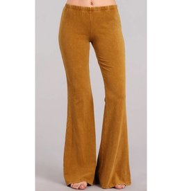 Nine To Five Bell Bottom Pants- Butterscotch