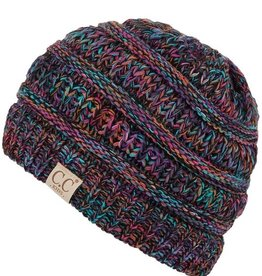 C.C Kids Ponytail Beanie Hat- Multicolor Triblend