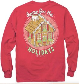 IT-Gingerbread House-YOUTH Longsleeve-Red