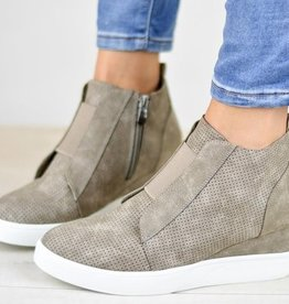 Chic Improvements Wedge Sneaker- Taupe