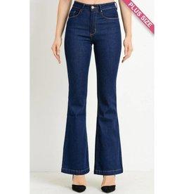 Best Bet High Waist Classic Flare Jeans- Super Dark Wash