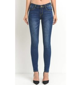 By The Book Stretch Skinny Jeans- Dark Wash