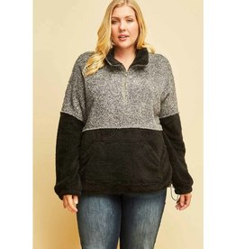 The Good Times Sherpa Pullover- Black