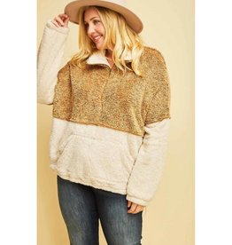 The Good Times Sherpa Pullover- Camel