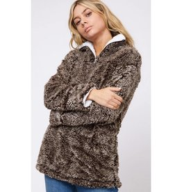 The Crossover Fur Pullover - Brown