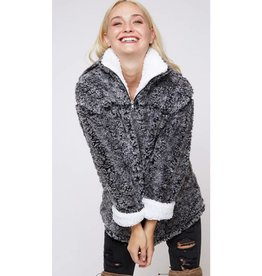 The Crossover Fur Pullover - Charcoal