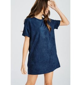 Today Is Your Day Suede Dress- Teal