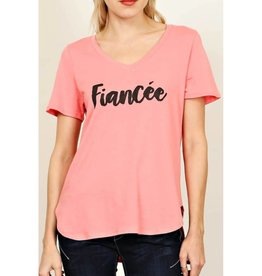 Fiancee Graphic Top - Pink