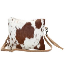 MYRA BAG White And Brown Shade Bag