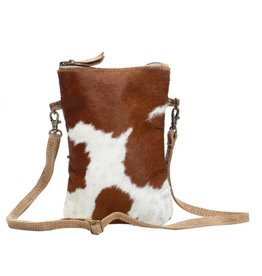 MYRA BAG White And Brown Cross Body Bag