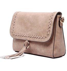 The Sara Flapover Crossbody Bag- Sand