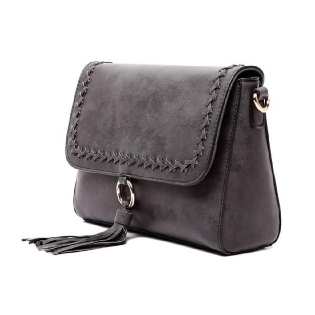 1342abcdaf7 The Sara Flapover Crossbody Bag- Black - Cheeky Bliss