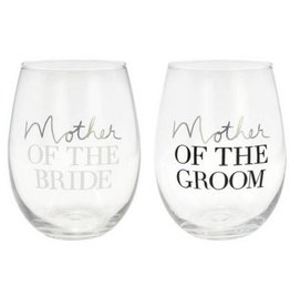 Mother of Bride/ Mother of Groom Wine Glass Set