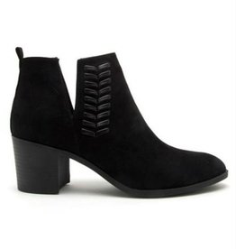 Learn To Love Suede Ankle Booties- Black