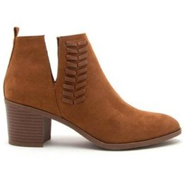 Learn To Love Suede Ankle Booties- Chestnut