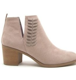 Learn To Love Suede Ankle Booties- Taupe