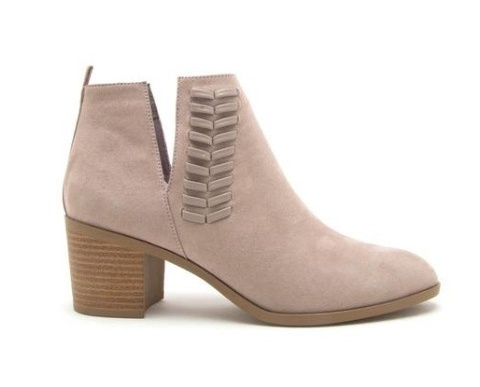 4b633627f674 LA Shoe King Learn To Love Suede Ankle Booties- Taupe - Cheeky Bliss