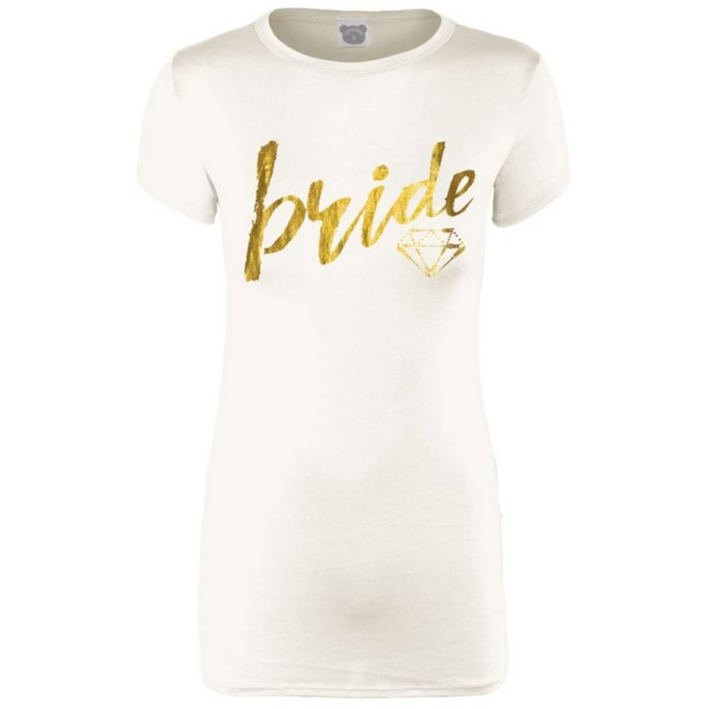 d89b67a5fa65 Bride Short Sleeve Graphic Tee- Ivory - Cheeky Bliss
