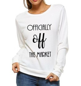 Officially Off The Market Loose Fit Sweatshirt- Ivory