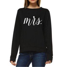 Mrs. Loose Fit Sweatshirt- Black