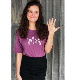 Mrs. Graphic Tee- Dusty Purple