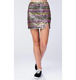 Good All Around Sequin Skirt - Pink Multi