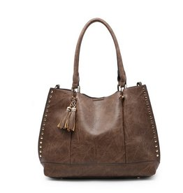 325d09c9d38 The Josie 2 in 1 Studded Tote Bag- Brown