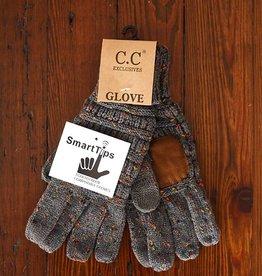 C.C Confetti Knit Glove - Dark Melange