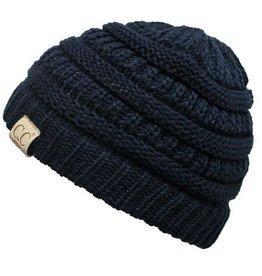C.C Kids Beanie Hat- Navy (One Size)