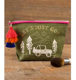 Canvas Pouch Let's Just Go!
