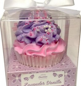 Cupcake Bath Bomb Large Lavender Vanilla