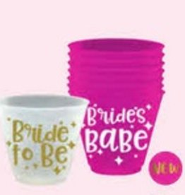 Wine Party Cups- 9oz.- Bride To Be