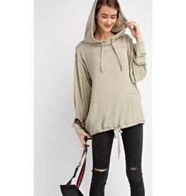 Feed Your Soul Knit Hoodie Pullover Top - Mushroom