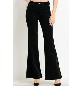You're Just My Type High Waist Corduroy Flare Jeans- Black