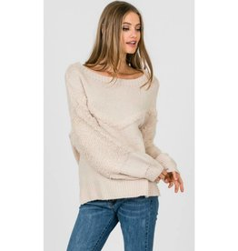 Spin Stories Batwing Knit Sweater- Cloud Pink