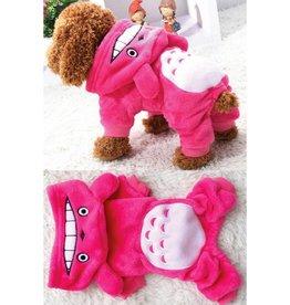 Pets Bear Hoodie Jumpsuit- Pink