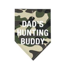 Dad's Hunting Buddy Dog Bandanna- Large/XLarge