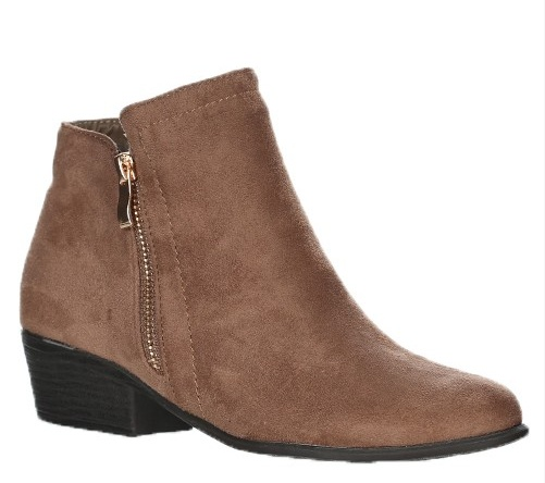 6b9e28108ced CJ Shoes Love Stitch Suede Ankle Booties- Taupe - Cheeky Bliss