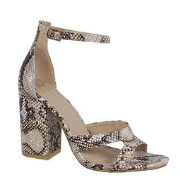 Neutral Territory Strappy Heels- Snake