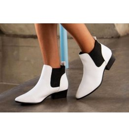 Stand Together Snake Ankle Booties- White