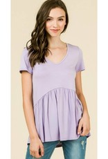All Ruffled Up Blouse - Lilac