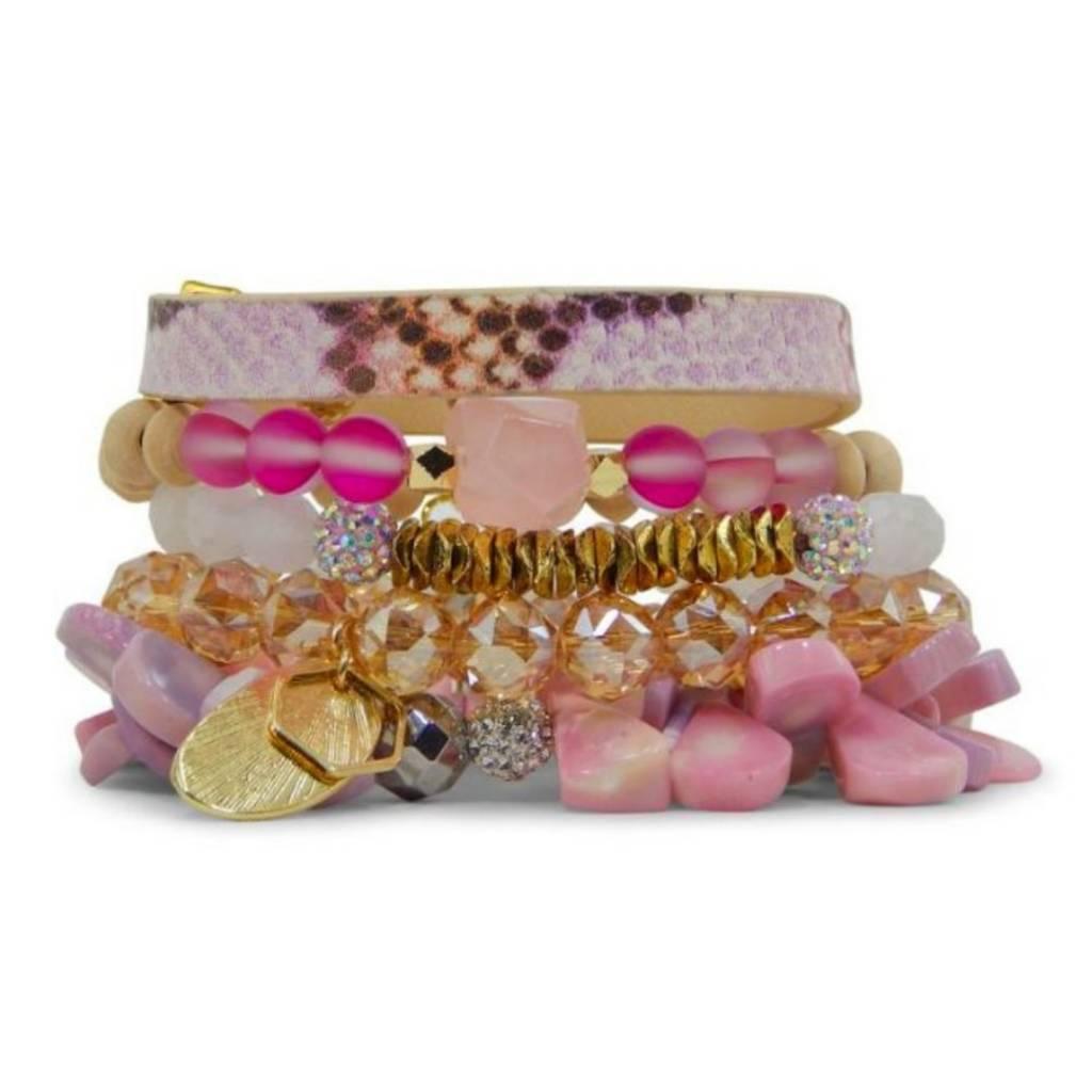 ERIMISH Stackable Bracelet Set - Pansy