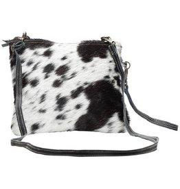 MYRA BAG White And Black Shade Bag