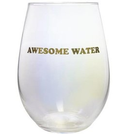 Stemless Wine Glass 20oz. Awesome Water
