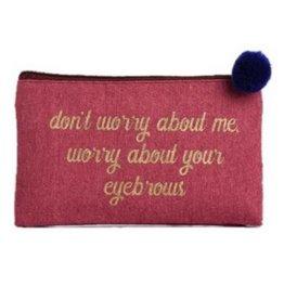 Canvas Cosmetic Bag- Eyebrows