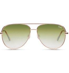 9547db9dc6366 High Key Sunglasses- Green Gold Mirror