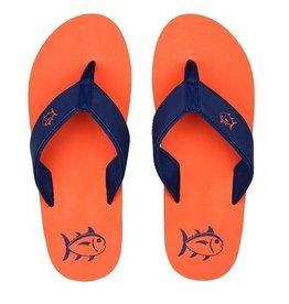 SOUTHERN TIDE Mens Flip Flops- Island Orange