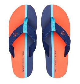 SOUTHERN TIDE Mens Flip Flops- Island Orange Stripe